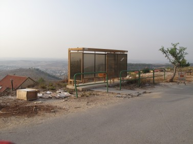 IMG 3120 377x282 This bus stop is somewhere in the West Bank south of Jerusalem