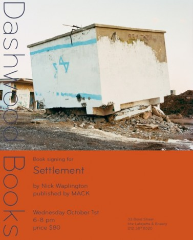 Nick Waplington Evite 377x468 Settlement book signing in New York on 1st October