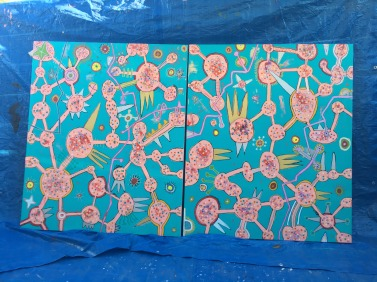 IMG 0210 377x282 Two new paintings Bezhau 1&2 2.0