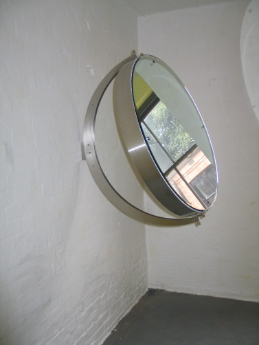 IMG 5330 377x502 We Have All The Time, a sculptural work, oil on canvas, aluminium frame and mirrored glass, 2002