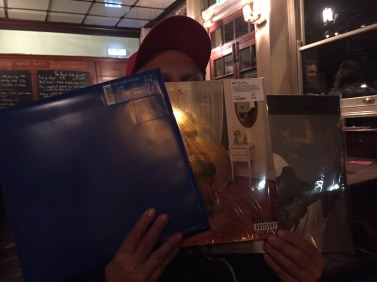 IMG 3946 377x282 In the pub with some new vinyl purchases this evening