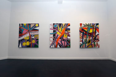 DSC 0660 377x252 Installation photo of my cureent painting show at TJ Boulting in London which is open until March 6th