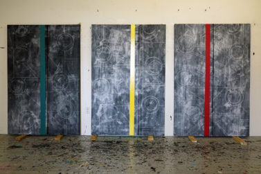 DSC1539Small 377x251 Three new paintings from a series I am making in the studio here in New York during the lockdown